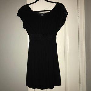 Women's Black Dress with Sequin Shoulders